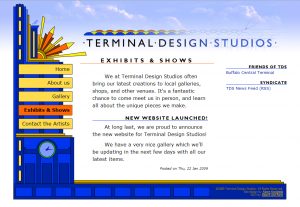 Terminal Design Studios website screenshot