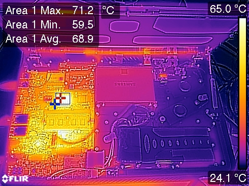 Novena Laptop Thermal Image