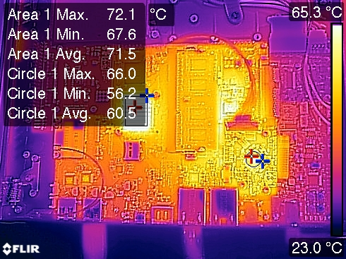 Novena PVT2-A Thermal Image with Data Overlay